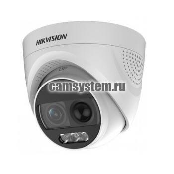 Hikvision DS-2CE72DFT-PIRXOF (3.6mm) - 2Мп уличная HD-TVI камера с сиреной по цене 5 537.00 р.
