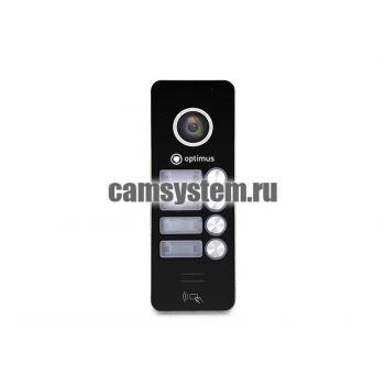 Optimus DSH-1080/4 (черный) - Вызывная панель на 4 видеодомофона по цене 5 729.00 р.