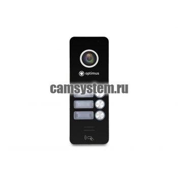 Optimus DSH-1080/3 (черный) - Вызывная панель на 3 видеодомофона по цене 5 766.00 р.
