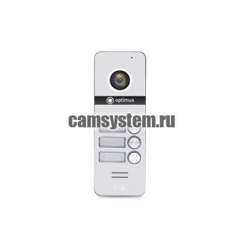 Optimus DSH-1080/3 (белый) - Вызывная панель на 3 видеодомофона по цене 5 766.00 р.