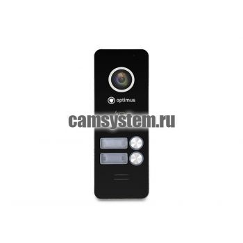 Optimus DSH-1080/2 (черный) - Вызывная панель на 2 видеодомофона по цене 5 474.00 р.