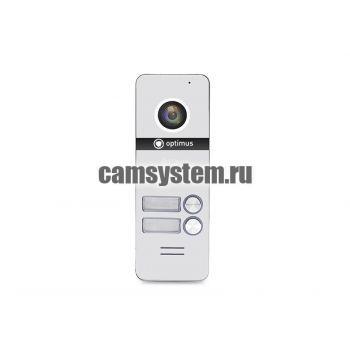 Optimus DSH-1080/2 (белый) - Вызывная панель на 2 видеодомофона по цене 5 474.00 р.