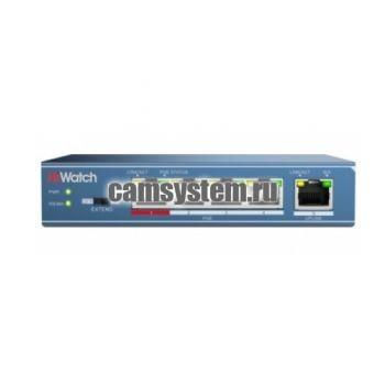 HiWatch DS-S504P(B) - Сетевой неуправляемый коммутатор по цене 3 335.00 р.